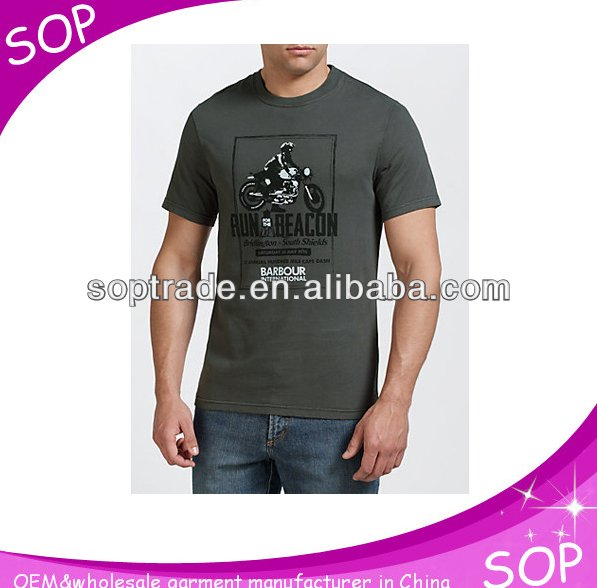 OEM service scoop neck custom diy t shirt printing for men made in china
