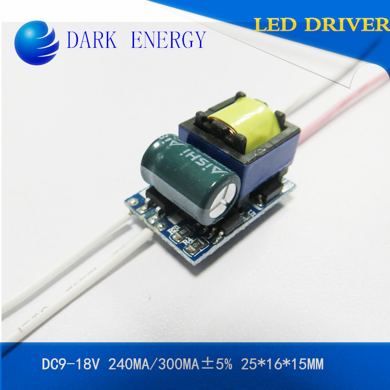 LED driver 5w 220v 300MA isolated power supply