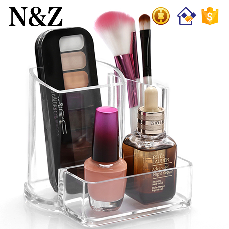 NZ C44 Luxury 3 Grids Cosmetic Holder Acrylic Makeup Storage
