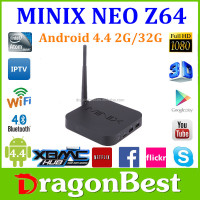 MINIX NEO Z64 Android TV Box Quad Core Intel Atom Z3735F TV BOX 2GB RAM 32GB ROM XBMC KODI pre-installed android tv box