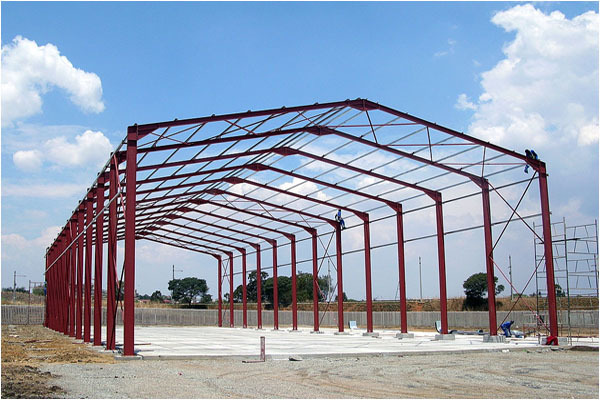 Pre produced metal structure hanger building in China
