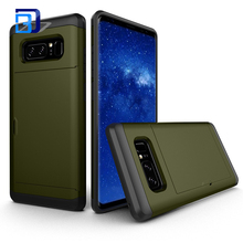 Mobile Back Cover With Card Holder TPU+PC Phone Case For Samsung Galaxy Note8 Phone Accessories Mobile