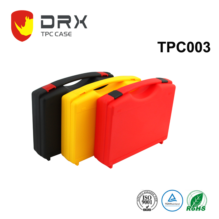 TPC003 China manufacturer cheap interlocking plastic handle carrying case suitcase boxes