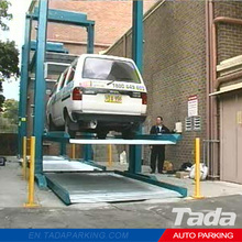 PJS Parking Lift Type Mechanized parking elevador /Two Post Stacker Parking Lift