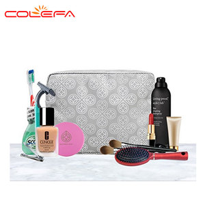 Eco-friendly custom pu cosmetic bag with 600D luxury makeup cosmetic bag