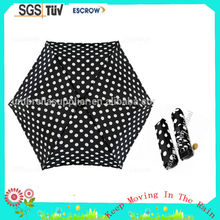 Custom 2015 Mini Dot Stick Umbrella mini umbrella Easy Sun Parasol