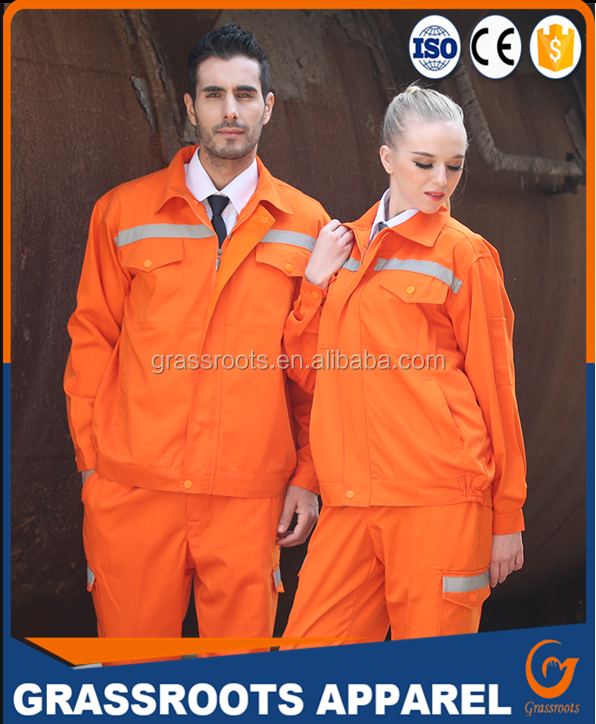 OEM service high quality orange High-visibility safety work jackets Workwear pants thick cotton winter workwear