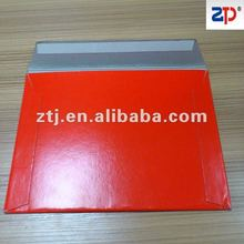 White board envelope 400gsm White lined chip board
