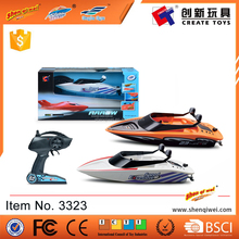 2.4G Remote control Small plastic toy patrol boat with window box