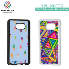 For Samsung Galaxy Note5 Custom Soft Silicone Cellphone Cover