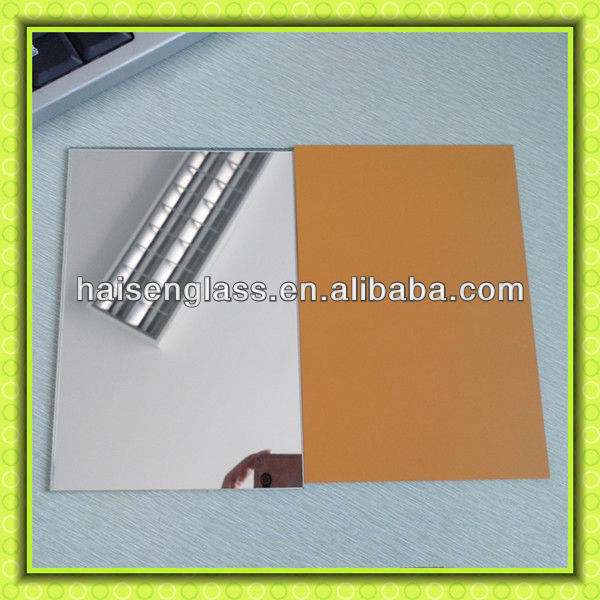 Top Quality Yellow Paint Back Mirror Glass,Aluminum Mirror ,Silver Mirror