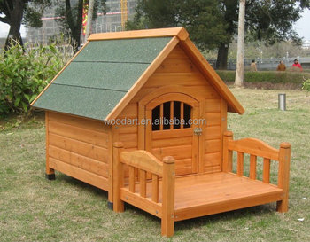 Delicate Design Yellow Wooden Dog Kennel Pet House with Veranda
