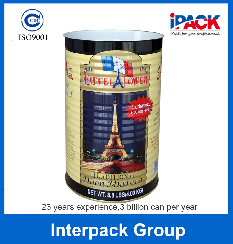 15240# A10 Tinplate Big Food Tin Can Size 4KG Can