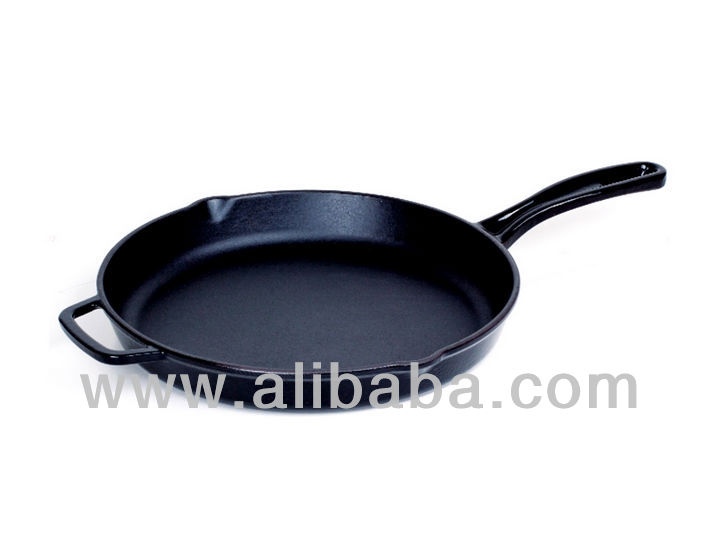 Round Cast Iron Frying Pan with Integral Handle 16-20-28 cm