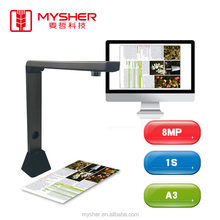 8MP A3 Paper CMOS Camera OCR Portable Document Scanner