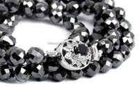 Brilliant 57 faceted Black Moissanite diamond beads at cheapest price offer from India. Finest Quality moissanite diamond usa