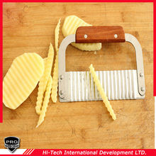 Stainless Steel Potato Chip Vegetable Choppers Crinkle Wavy Cutter Blade Knife