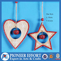 2017 New Christmas Tree Heart and Star Ornament with Bell