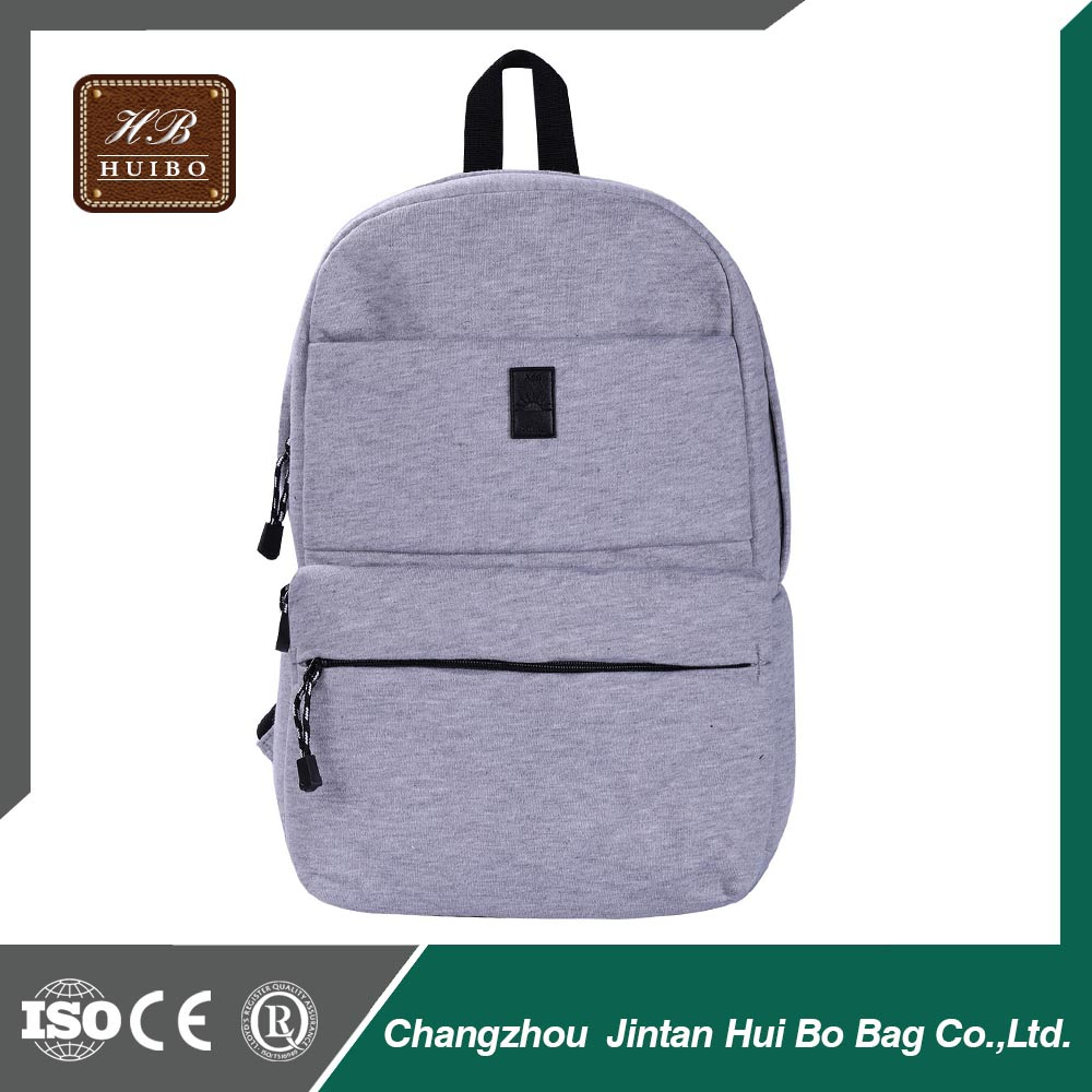 Cotton Material and Unisex Backpack Plain Color School Bag Customized