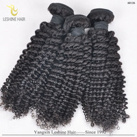 Human Virgin Remy Indian Curly Weave Hair Extension For Black Women