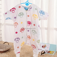 Custom design 100% cotton baby muslin sleeping bags for newborns