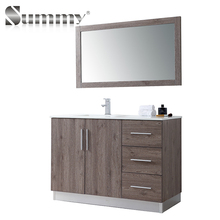 good quality modern melamine board artifical stone top vanity home bathroom cabinet