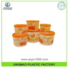 6PC Plastic Food Storage Box Set custom fresh container