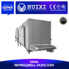 iqf tunnel horizontal plate continuous icecream freezer machine