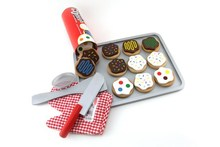 Wooden cookie set toy,wooden toy cake set,wooden food toy