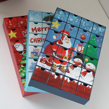 custom Eco-friendly countdown to Christmas advent calendar with drawers packaging box for chocolate
