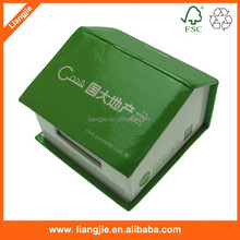 Custom Stationery Note cube, memo pads,paper block in house shape holder/case