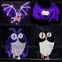 Vivid outdoor and indoor horrible garland ghost Halloween props decoration lighting