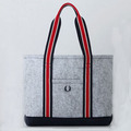 The new package Classic gray material Handbag felt cloth bag for shopping