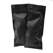 Customized Printed Matte Black Finish Bag With Zipper Top For Coffee Packaging Plastic Zip Lock Foil Pouch