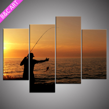 New design 4 piece group painting art canvas print custom for designer