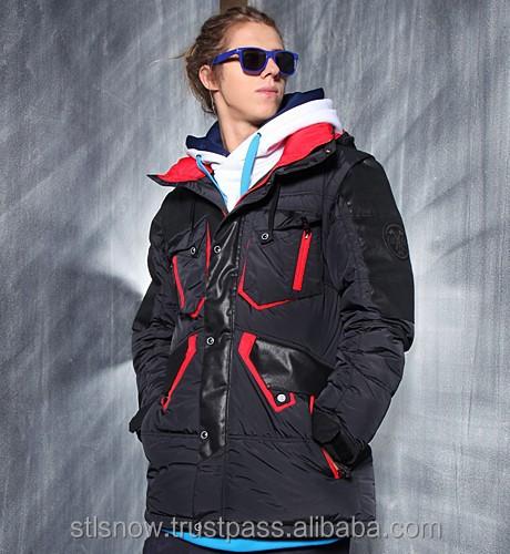 2014/2015 High quality Unisex warm Ski Snowboard jacket, Jazz Jacket Black/BlackLeatherRed