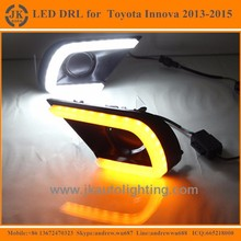 New Arrival Turn Signal LED DRL Foglights for Toyota Innova Light Guide LED Daytime Running Lights for Toyota Innova 2013-2015