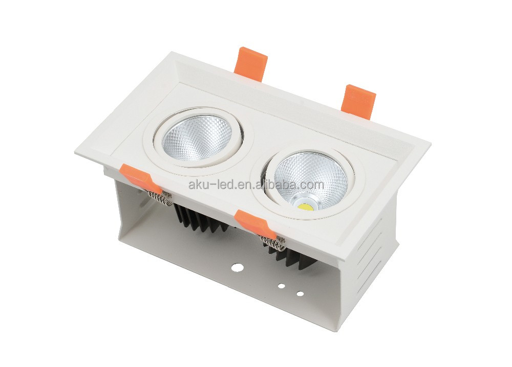 New Narrow Beam ADC12 Aluminum 2*8W LED Grille Down Light Parts