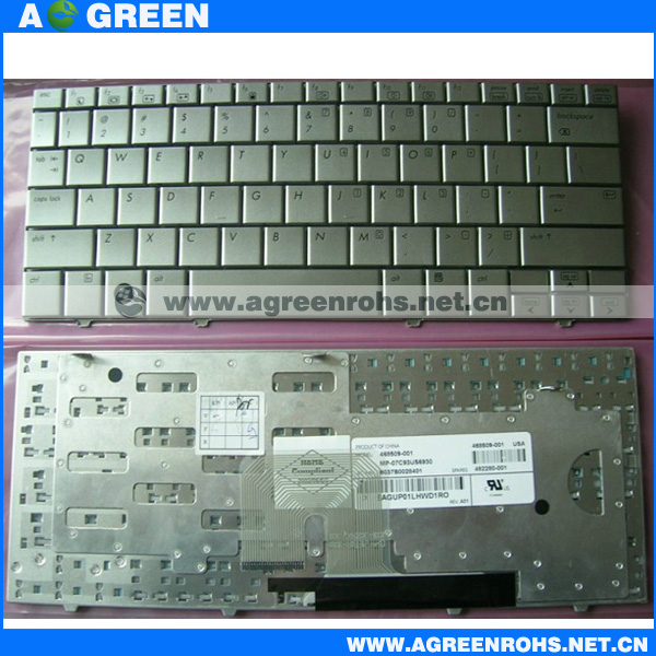 Hot sale Laptop keyboard for hp MINI Note 2133 silver