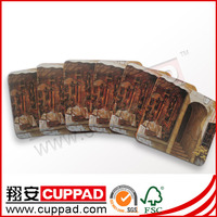 Professional manufacturer with cheap price wooden/mdf/pine coaster/lid with good quality cork back