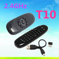 2.4Ghz G Mouse Ii/C120 Air Mouse T10 Rechargeable Wireless Gyro Air Fly Mouse And Keyboard Combo For Android Tv Box C120