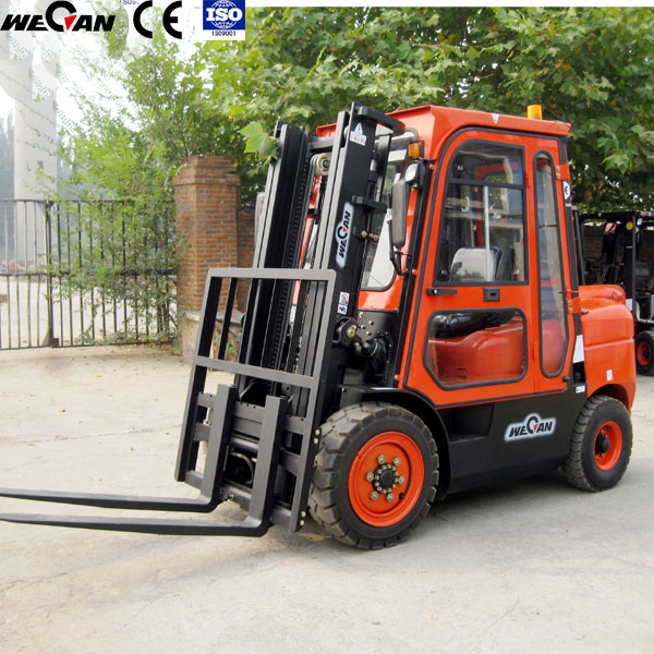 3ton cab forklift for Russia Kasakhstan America very cold winter working