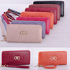 2016 Brand quality colorful pu leather ladies wallet women purse