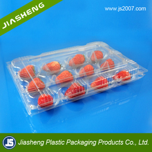 clear disposable plastic blister strawberry container