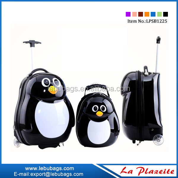 hotselling little penguin kids hard luggage