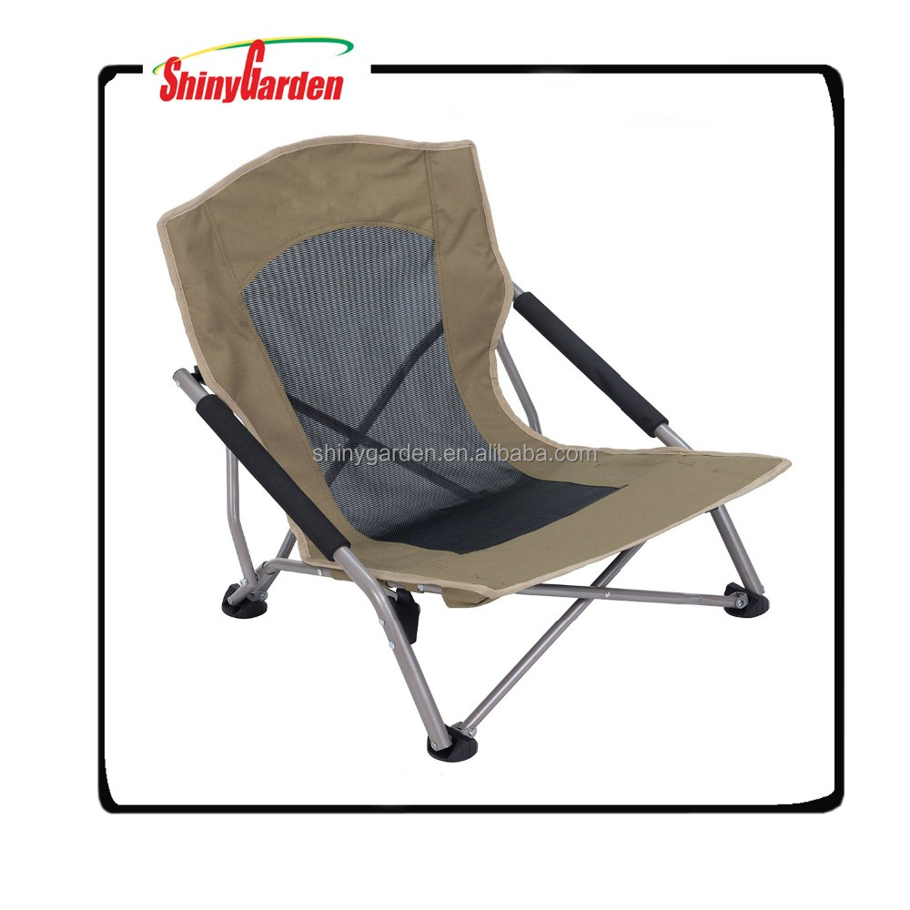 Outdoor Steel Folding Lower Beach Chair With Pvc Coating Oxford Fabric for sale, High Quality Outdoor Beach Chair