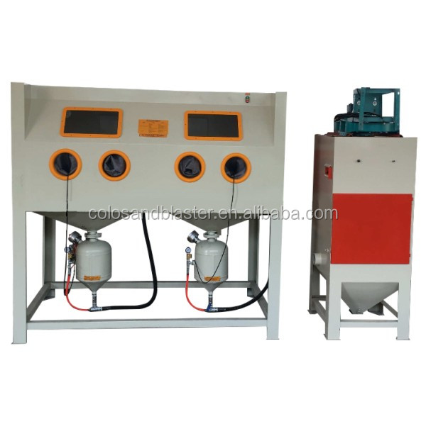COLO-1212P Direct high-velocity pressure sandblast cabinet / rust remover machine