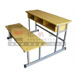 High quality study table with attached chair school table bench used daycare furniture sale