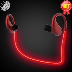 led lighted glowing bulk sport wireless bluetooths stereo headset earbud headphone earphone for iphone