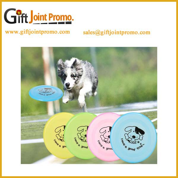 Promotional customized light dog toy frisbee